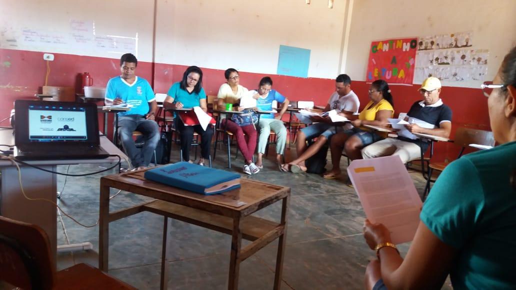 """O munícipio de Serra do Ramalho por meio da Secretaria Municipal de Educação está realizando o dia """"D"""", momento de debate e estudo sobre a BNCC"""