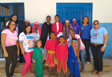 Semana Santa Infanto Juvenil na Escola Municipal Bartolomeu Guedes de Fechadinha