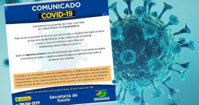 21º Óbito em decorrência de COVID-19 em Serra do Ramalho-BA